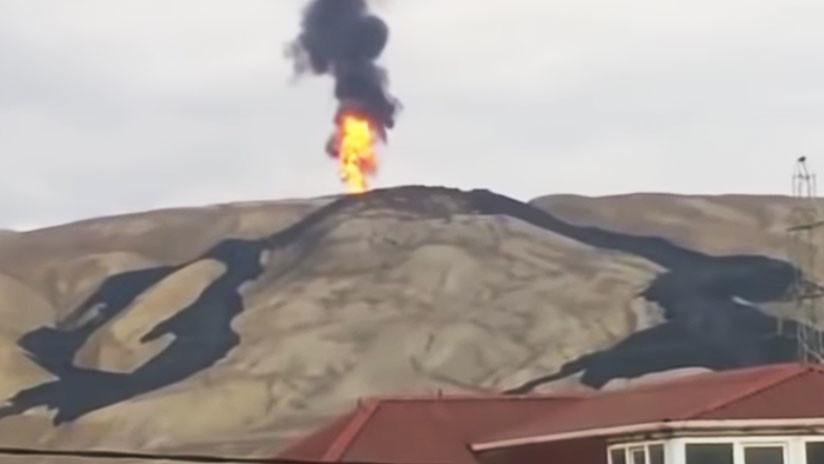 Volcán de lodo Otman-Bozdag entra en erupción