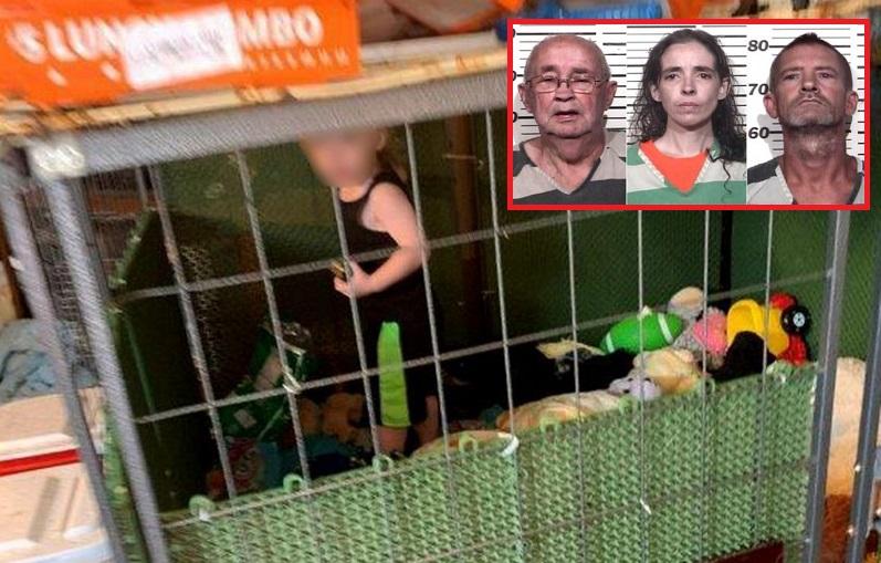 Mujer tenía a su bebé viviendo en una jaula para perros
